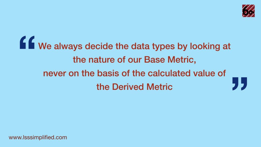 Project metric data type quote